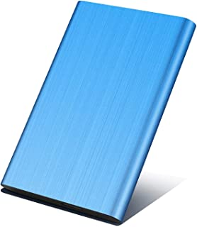 Genericc - Disco duro externo portátil 1 TB, 2 TB, USB 3.0, apto para PC, Mac, ordenador de escritorio, portátil, MacBook, Chromebook, azul, 2tb