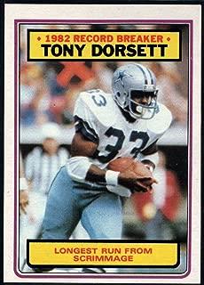 Football NFL 1983 Topps #2 Tony Dorsett RB Cowboys