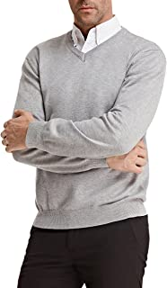 PAUL JONES Men's Knitting Sweater Stylish Long Sleeve V-Neck Pullover