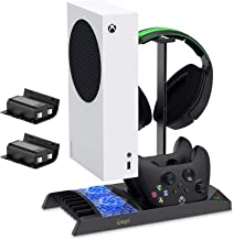 $40 » FYOUNG Vertical Charging Stand Storage Tower for Xbox Series S with Cooling Fan, Charging Dock for Xbox Series S with 2X 1...