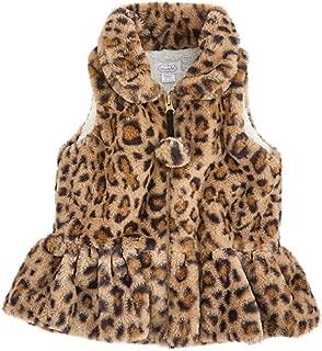 Mud Pie Baby Girl Faux Leopard Fur Vest