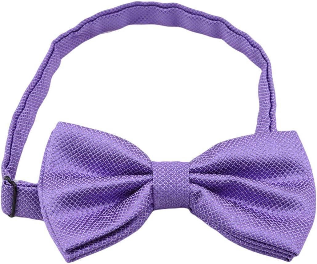 Yingwei VWH Cravates Gar/çOns dhonneur Cravate Mariage Mariage Papillon M/âLe D/éCoration Violet