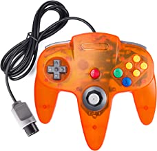 suily Classic Controller Wired Game Controller Retro Joystick for N64 Console N64 Gamepad (Clear Orange)