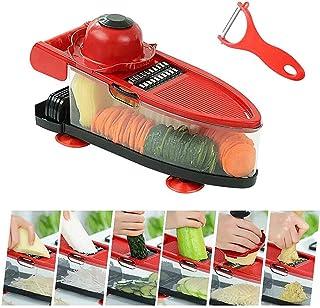 Chopper végétal, coupe-légumes manuelle Cuisine à l'oignon décorateur de cuisine avec éplucheur de protection à la main, s...