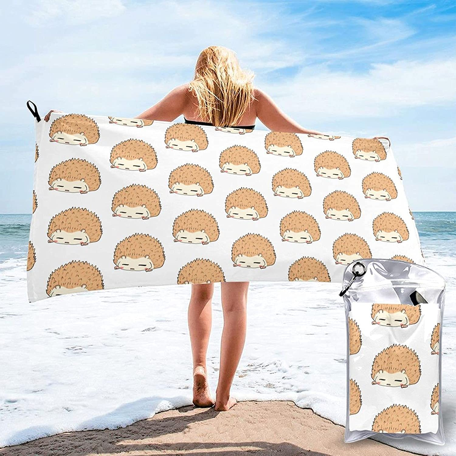 Pool Towel Cute Hedgehog Bath Beach Al sold out. Free shipping anywhere in the nation Towels Multi Gym