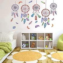 Dream Catcher Sticker, H2MTOOL Peel and Stick Dreamcatcher Feather Wall Decal for Kids Room Decor (Dreamcatcher)