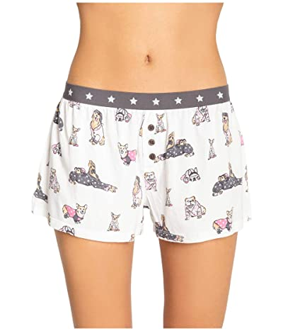 P.J. Salvage Playful Prints Shorts (Ivory) Women