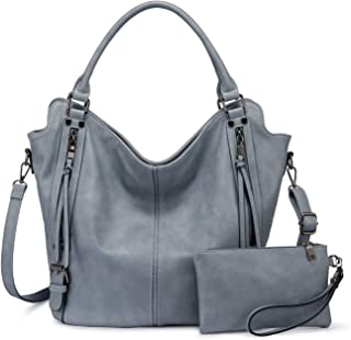 Realer Damen Handtaschen Groß Shopper Lederhandtasche Schultertasche Umhängetasche Geldbörse Hobo Damen Taschen Set für Bü...