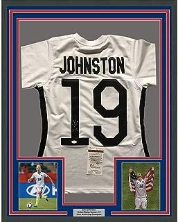 Julie Johnston Autographed Jersey - FRAMED Ertz 33x42 USA White COA - JSA Certified - Autographed Soccer Jerseys