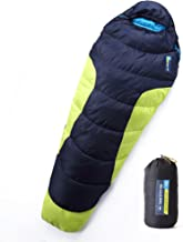 Mummy Sleeping Bag with Compression Sack - Winter Sleeping Bag for Camping, Hiking, Backpacking & Travel - Waterproof, Compact and Ultralight Cold Weather Sleeping Sack for Adults up to 6'6