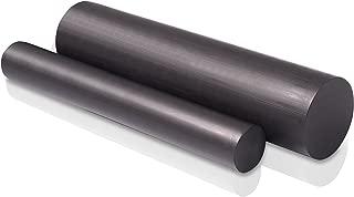 "Nylon 6//6 Round Rod Nominal - Black 60/"" Length x 3//4/"" Diameter Extruded"