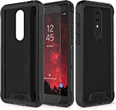 Zizo Ion Series Compatible with Alcatel Onyx Case Military Grade Drop Tested with Tempered Glass Screen Protector Black Smoke