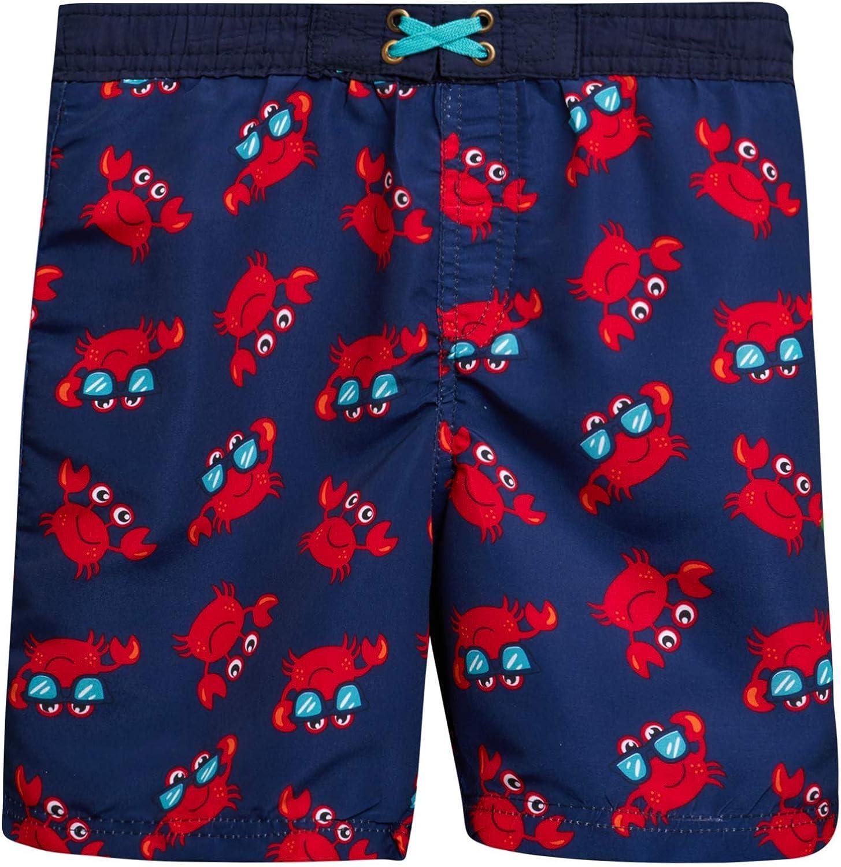Infant//Toddler//Little Boys Quad Seven Boys 2-Piece Rash Guard and Trunk Swimsuit Set