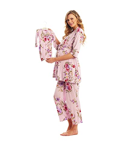 Everly Grey Analise Maternity/Nursing Mommy Me Five-Piece PJ Set (Dusty Rose) Women