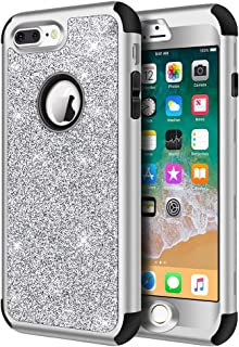Best iphone 8 plus silver glitter case Reviews