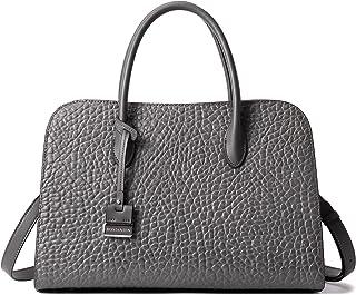 BOSTANTEN Damen Leder Handtasche Frauen Henkeltasche Schultertasche Umhängetasche Elegante Tote Bag Grau