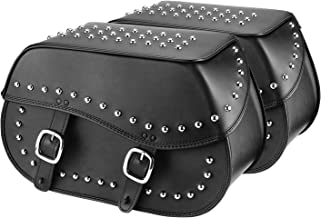 studded leather saddlebags