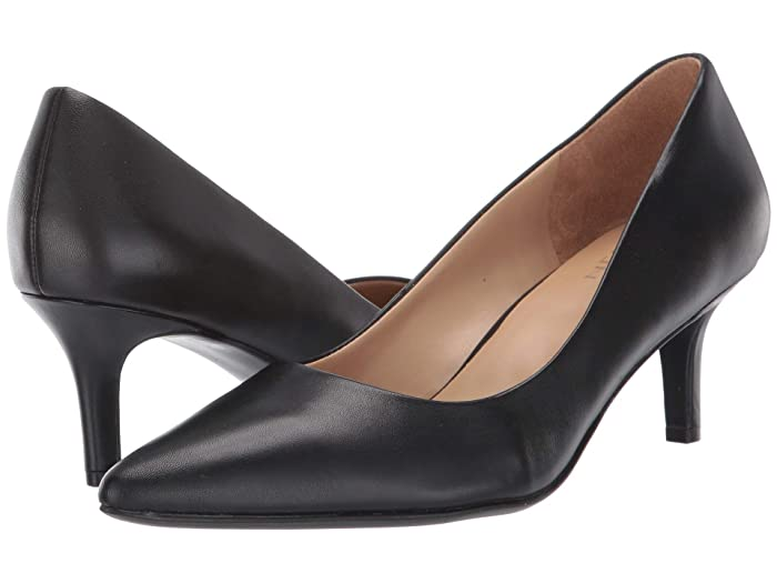 Rockabilly Shoes- Heels, Pumps, Boots, Flats Naturalizer Everly Black Leather Womens Shoes $109.95 AT vintagedancer.com