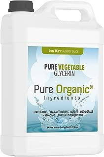 Vegetable Glycerin Half Gallon (64 oz.) by Pure Organic Ingredients, Kosher, Vegan, Food & USP Pharmaceutical Grade