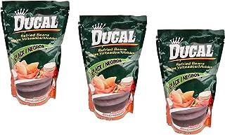 Ducal Refried Black Beans 14.1oz / 400grs Frijoles Negros Volteados (3 Pack)
