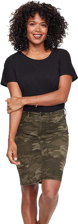 Denim Skirt in Camo