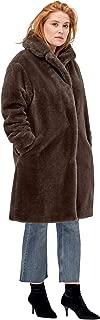 Women's Plus Size Long Faux Fur Coat