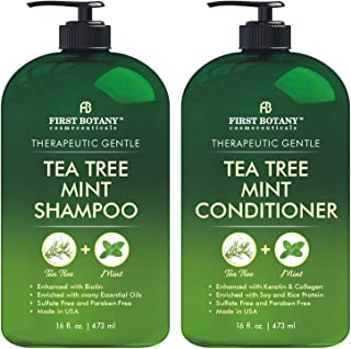 Tea Tree Mint Shampoo and Conditioner - This set contains Pure Tea Tree Oil & Peppermint Oil - Fights Hair Loss, Promotes ...