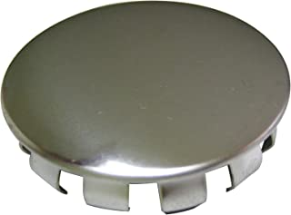 Plumb Pak PP815-11 Snap-in Faucet Hole Cover, 1-1/2 in Od, Stainless Steel