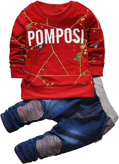 95sCloud Junge M/ädchen Baby Weihnachten Sweatshirt Kapuzen Kinderbekleidung Langarmshirt Kapuzenpullover Cardigan Weihnachtskost/üm Schneeoverall Kleinkind Oberteile