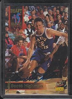 1995 Signature Rookies Scott Highmark 4254/7500 Autographed Basketball Card #44