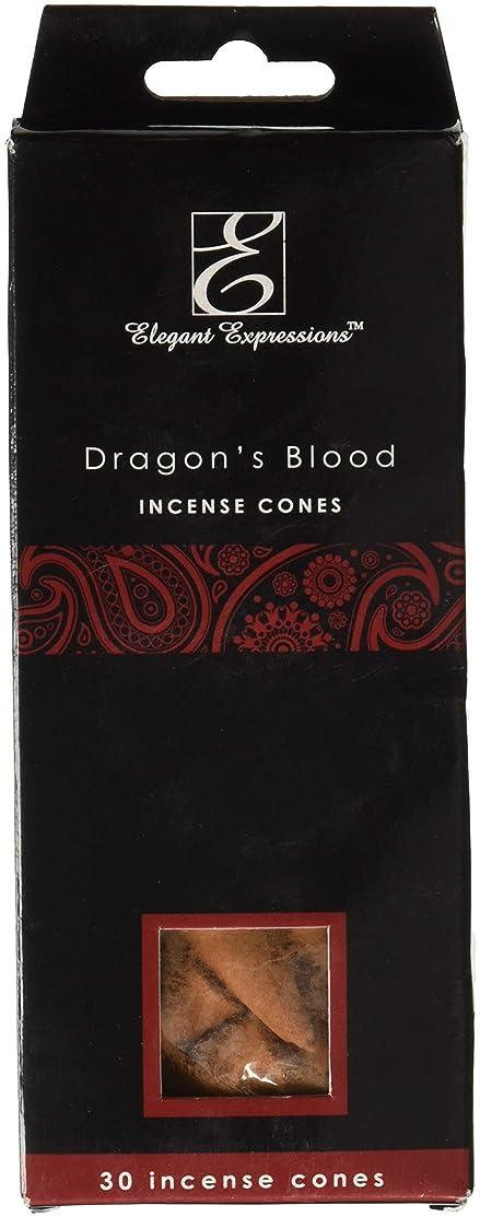 前用心深めるElegant Expressions ドラゴンブラッド 香り付きコーン型お香 180個パック エッセンシャルオイルを充填した手香り。