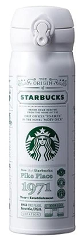 メキシコローマ人段落海外限定 スタバ ストーリーホワイトタンブラー 保温保冷ボトル Starbucks JNL Story White Thermos 500ml [並行輸入品] (ホワイト)