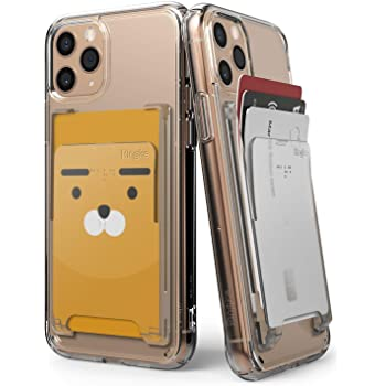 【Ringke】スマホ カードケース SUICA PASMO カードホルダー カード入れ 定期入れ パースケース 背面カードホルダー 名刺入れ スマホケース Slot Card Holder (Clear Mist クリアミスト) Apple iPhone Samsung Galaxy Google Pixel Sony Xperia LG Phone Accessory 全機種対応