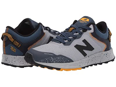 New Balance Kids Fresh Foam Arishi Trail (Little Kid/Big Kid) (Light Aluminum/Stone Blue) Boys Shoes