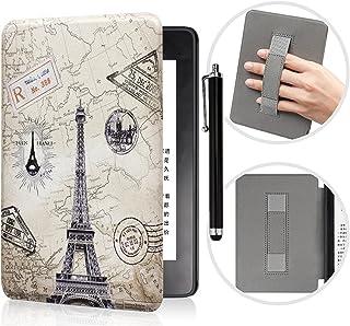 YYS Capa com alça de mão e caneta sensível ao toque para Kindle Paperwhite 10ª geração lançado em 2018 – Capa de couro dur...
