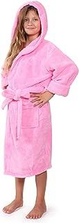 Indulge Plush Hooded Robe for Kids, Soft Fleece Bathrobe for Girls ans Boys, Made in Turkey