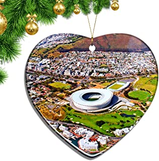 Hqiyaols Ornament South Africa Cape Town Christmas Ornaments Ceramic Sheet Souvenir City Travel Pendant Gift Tree Door Window Ceiling Decoration Collection