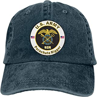 US Army MOS 92R Parachute Rigger Adjustable Baseball Caps Denim Hats Cowboy Sport Outdoor