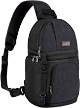 MOSISO Camera Sling Bag, DSLR/SLR/Mirrorless Case Water Repellent Shockproof Photography Camera Backpack with Tripod Holde...