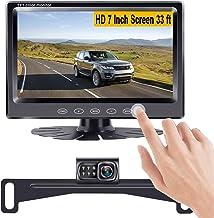 دوربین پشتیبان LeeKooLuu و سیستم مانیتورینگ 7 پارکینگ / رانندگی نصب آسان برای اتومبیل ها ، SUV ها ، وانت ، کامیون ها ، موتور اتومبیل ها ، اتوبوس ، وانت عقب / نمای جلوی IP68 فوق العاده شب دید ضد آب