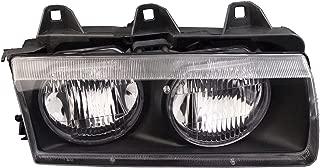 HEADLIGHTSDEPOT Chrome Housing Halogen Right Passenger Headlight Compatible With Fleetwood American Tradition 2004-2007 Motorhome RV