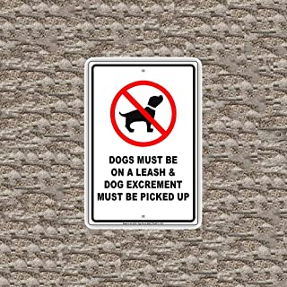 MANGAN Dogs Must Be On A Leash and Excrement Must Be Picked Up with Graphic Funny Wall Tin Sign Metal Art Board Bar Cafe Club Decoration Poster