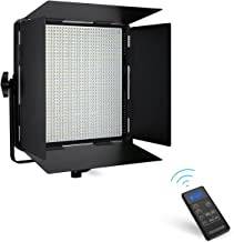 Powerextra 1296 Beads Bi-Color 108W Dimmable LED Video Light Panel with U Bracket, 3200K-5600K, DMX 512 & 2.4G Wireless Remote Control, CRI 96+ for YouTube, Outdoor Studio Photography, Video Shooting