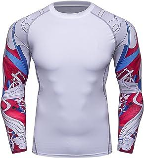 e60990a0cfe Fanii Quare Men s Soft Slim Long Sleeve Dry-Fit Compression Gym Trainning  Shirt