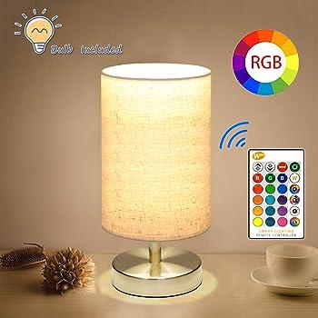 Marrado Table Lamp, Touch Sensor Bedside Lamp + Bluetooth