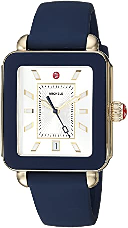 Michele Deco Sport Navy Silicone Watch