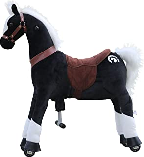 Medallion - My Pony Ride On Real Walking Horse for Children 5 to 12 Years Old or Up to 110 Pounds (Color Medium Black Knight Horse) for Boys and Girls