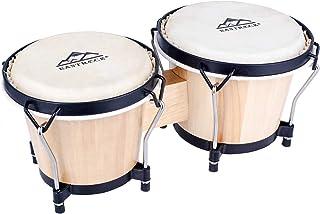 """مجموعه EastRock Bongo Drum 6 """"و 7"""" برای بزرگسالان بزرگسال حرفه ای حرفه ای قابل تنظیم سازهای کوبه ای چوبی و فلزی با کیسه و آچار تنظیم"""