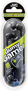 JVC Gumy Gamer, In Ear Earbud Headphones with Mic, Remote, and Mute Switch for Gaming and Chatting, Powerful Sound, Comfortable and Secure Fit, Silicone Ear Pieces S/M/L - HAFX7GB (Black)