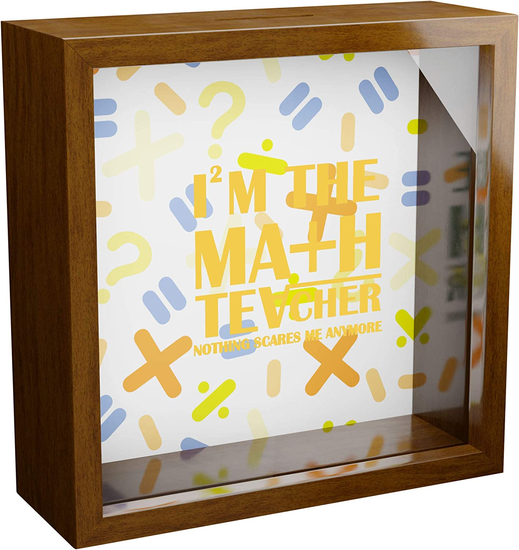 iframes Popular Math Teacher Gifts 6x6x2 G with Memorabilia Box 5% OFF Shadow